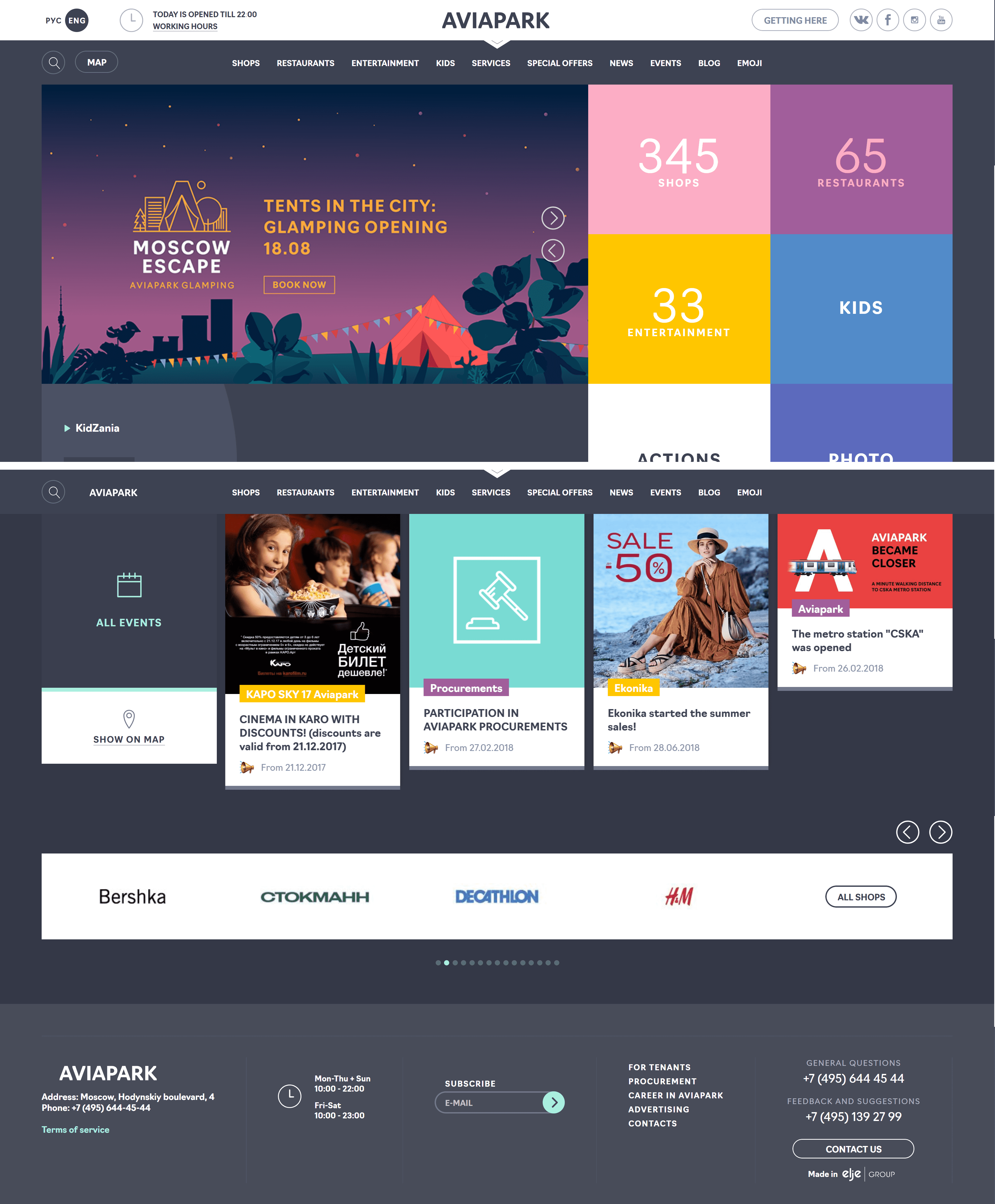Modern web design inspiration